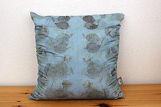 Úžitkový textil - eco-print obliečka na vankúš 21, 40 x 40 - 10239263_