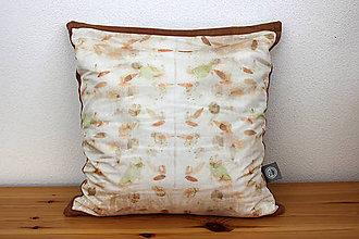 Úžitkový textil - eco-print obliečka na vankúš 22, 40 x 40 - 10239278_