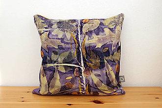 Úžitkový textil - eco-print obliečka kampeškovník, 40 x 40 - 10239367_