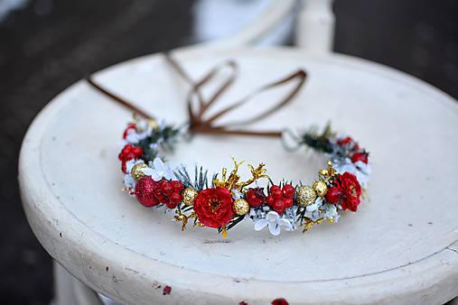 Červený vianočný venček - výpredaj