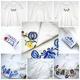 Pyžamy a župany - modrá Búvajka s dlhým rukávom - 10239741_