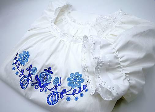 modrá Búvajka s dlhým rukávom