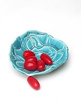 Nádoby - miska kruhová tyrkysová - 10239306_