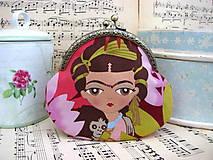 Peňaženky - Taštička s holčičkou Fridou - sleva z 11eur - 10240402_