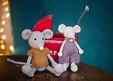 Hračky - Myška malá - spiaca - 10240569_
