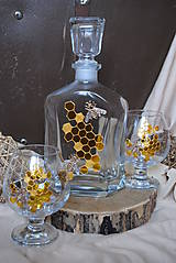 Nádoby - Poháriky /6ks/ s fľašou - včely - 10242478_