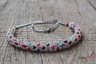 Náhrdelníky - náhrdelník dutinkový polovičný (náhrdelník multifarebný 5) - 10242570_