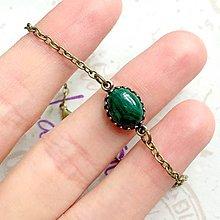 Náramky - Bronze Vintage Malachite Bracelet / Vintage náramok s malachitom v bronzovom prevedení /1342 - 10244024_
