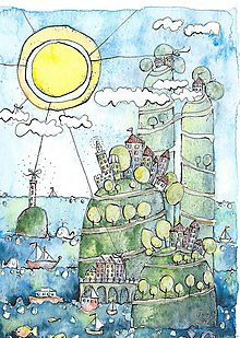 Kresby - slnečný deň - 10244447_