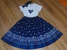 - Folklórny set v modrej farbe - 10244383_