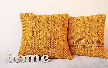 Úžitkový textil - Vankúš horčicový. - 10243410_