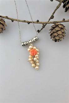 Náhrdelníky - perly a koral prívesok AKCIA! - 10244318_