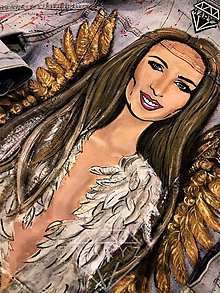 Mikiny - Malovana riflova bunda / originálna maľba na zelanie - 10242005_