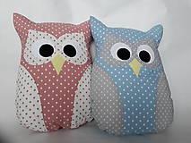 Úžitkový textil - Vankúš sova veľká (Modrá) - 10242087_