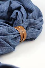 Doplnky - Pánska elegantná modrá šatka zo 100% ľanu - 10242986_