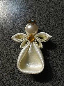 Dekorácie - Anjelíček Trpaslíček (Zlatý) - 10243565_