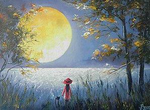 Obrazy - Nočná prechádzka - 10243880_