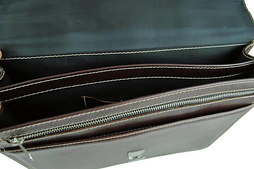 09a4668a0b Elegantná kožená aktovka z pravej kože v tmavo hnedej farbe   Kozena ...
