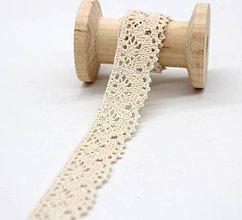 Galantéria - C110 Čipka bavlnená 2 cm / cena za meter - 10243698_