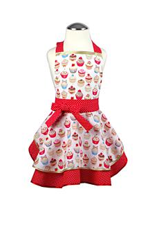 Detské oblečenie - Dievčenská luxusná zástera Cupcake red - 10243352_