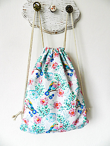 Detské tašky - Batoh pestrofarebné vtáčiky - 10243102_