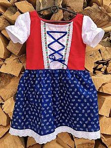 Detské oblečenie - Detské folklórne šaty Olinka - 10243273_