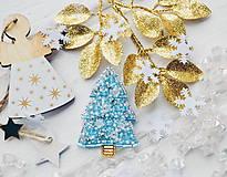 Odznaky/Brošne - Vianočný stromček (Tyrkysová) - 10242030_