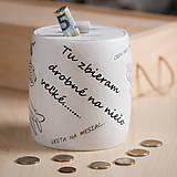 Krabičky - Pokladnička - šetrím na niečo veľké - 10244224_