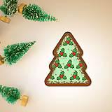 Dekorácie - Vianočné grafické perníky so vzorom stracciatella - cezmína - 10242701_