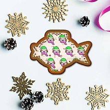 Grafika - Vianočné grafické perníky so vzorom stracciatella - tvár chlapček - 10242724_