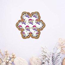 Grafika - Vianočné grafické perníky so vzorom stracciatella - tvár dievčatko (vločka snehu) - 10242735_
