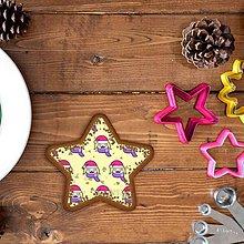 Grafika - Vianočné grafické perníky so vzorom stracciatella - tvár dievčatko - 10242745_