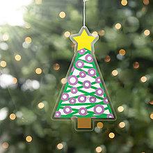 Dekorácie - Vianočný stromček - vianočná ozdoba na zavesnie (vianočné gule) - 10243940_