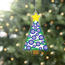Dekorácie - Vianočný stromček - vianočná ozdoba na zavesnie (snehové vločky) - 10243949_