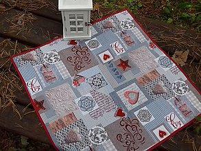 Úžitkový textil - Merry Christmas -bordo (Obrus s lemom) - 10246122_