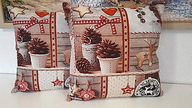 Úžitkový textil - Obliečka na vankuš  (šišky.sobík) - 10246606_