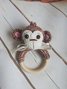 Detské doplnky - Opička hrkalka - 10244544_