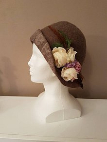Čiapky - Plstený klobúk -TAJOMSTVO - 10245672_