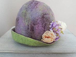 Čiapky - Plstený klobúk - NEŽNÝ - 10245822_