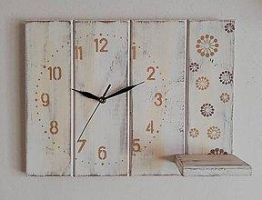Hodiny - Nástenné hodiny- béžové variácie - 10245241_