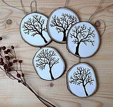 Dekorácie - Drevené ozdoby na stromček-stromy - 10245233_