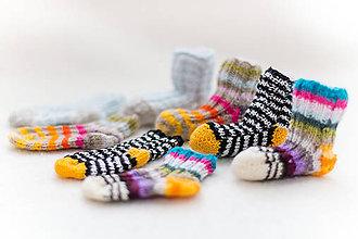 Topánočky - Ponožtičky pre bábätko merino - 10245149_