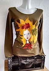 Tričká - Autumn fairy - ručne maľované tričko - 10245709_