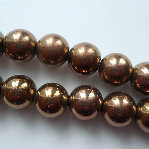 Hematit 12mm-bronz-1ks