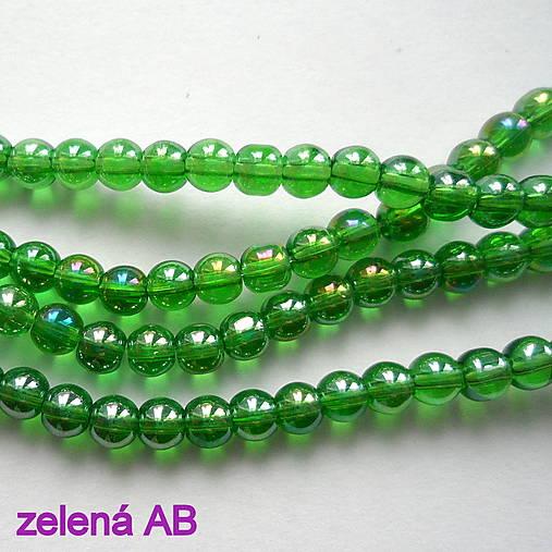 CrystaLine Beads™-4mm-1ks (zelená AB)
