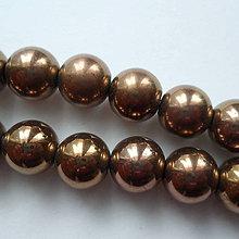 Minerály - Hematit 12mm-bronz-1ks - 10246685_