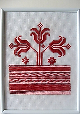 Nezaradené - Výšivka 2 v bielom ráme - 10244942_