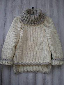 Svetre/Pulóvre - Extra hrubý sveter - 10244785_