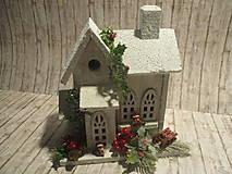 Dekorácie - Vianočná dekorácia - domček - 10245753_