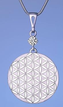 Náhrdelníky - Strieborný prívesok kvet života - 10245984_